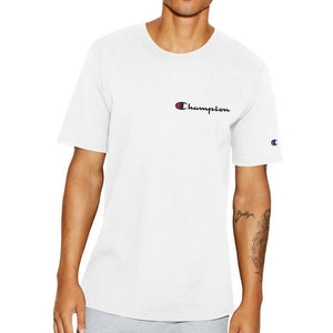 Champion Life® Heritage Small Script Logo Embroidered T-Shirt White