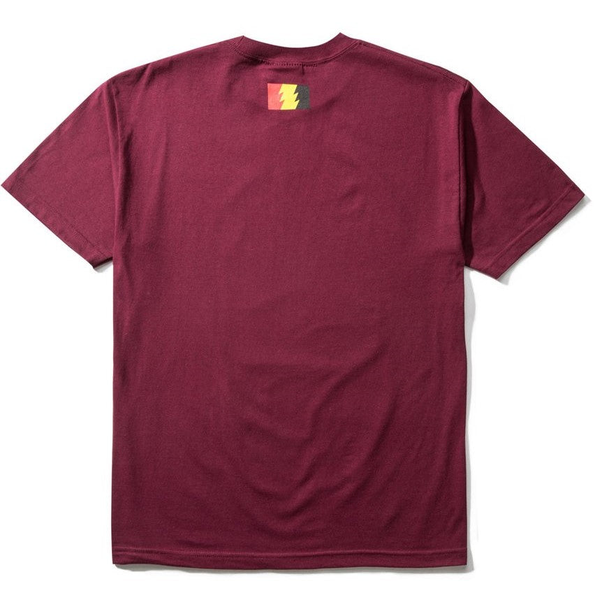 The Hundreds Fight Back T-Shirt Burgundy