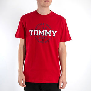 Tommy Hilfiger Jeans Circular T Shirt Red