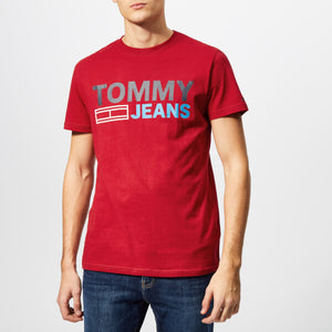 Tommy Hilfiger Jeans Essential T Shirt Red