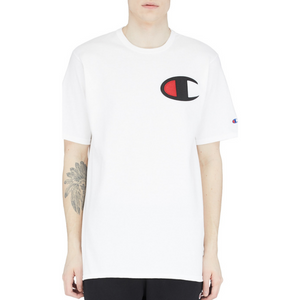 Champion Heritage Large Applique Logo T Shirt White