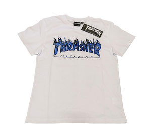 Thrasher Ghost Flame T-Shirt White
