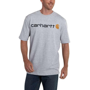 Carhartt Signature Logo T-Shirt Heather Grey