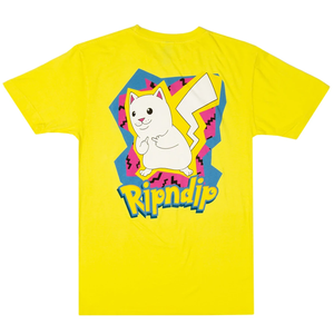 RipNDip Catch Em All T-Shirt Yellow