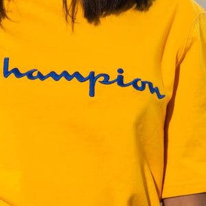 Champion Life® Heritage Script Logo Embroidered T-Shirt Team Gold