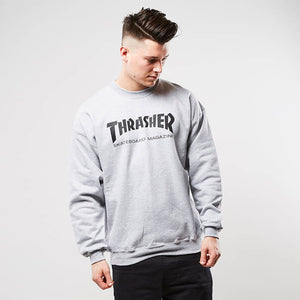 Thrasher Skate Mag Fleece Crewneck Sweater Grey