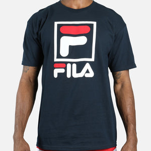 Fila Stacked T-Shirt Navy