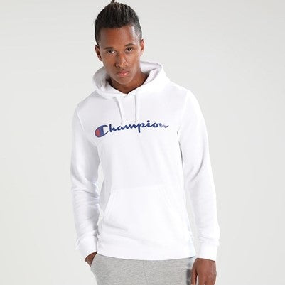 Champion Reverse Weave Pullover Hoodie White
