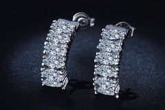 White Gold Plated Earrings