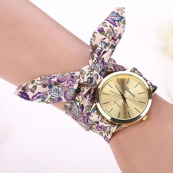 Eva Floral Strap Watch