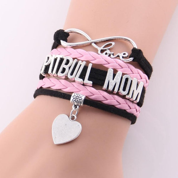 Infinity Love Pitbull Mom Bracelet