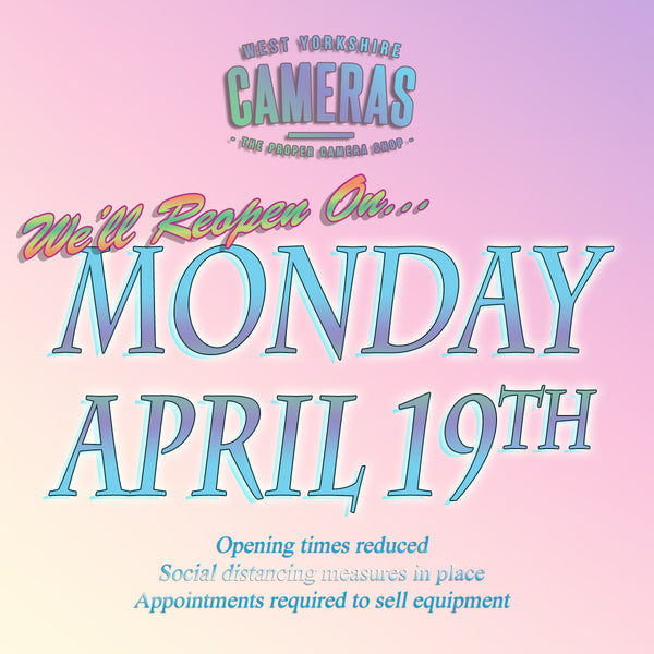 Reopening Monday April 19th