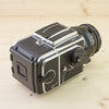 Hasselblad 501CM Chrome w/ 100mm f/3.5 CF WLF A12 Exc