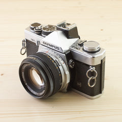 Olympus OM-2n Chrome w/ 50mm f/1.8 Exc - West Yorkshire Cameras