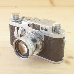 Leica IIIG w/ 5cm f/2 Summicron Exc+ in Case