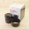 Canon EF fit Samyang 85mm f/1.4 Exc+ Boxed
