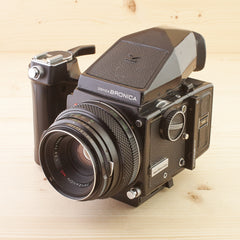 Bronica ETR w/ 75mm Prism and Grip Avg - West Yorkshire Cameras