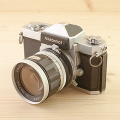 Nikkormat FTn Chrome w/ Hanimex 28mm f/2.8 Avg