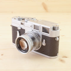 Leica M3 SS w/ 50mm f/2 Collapsible Summicron Exc+ in Case