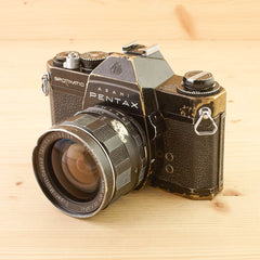 Pentax Spotmatic F Black w/ 24mm f/3.5 Ugly