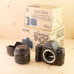 Contax NX w/ 28-80mm f/3.5-5.6 Exc+ Boxed