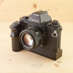 Canon F-1N w/ 50mm f/1.4 & AE Power Winder FN Exc+
