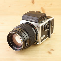 Bronica ETR Silver Body w/ 150mm f/4 and WLF Avg