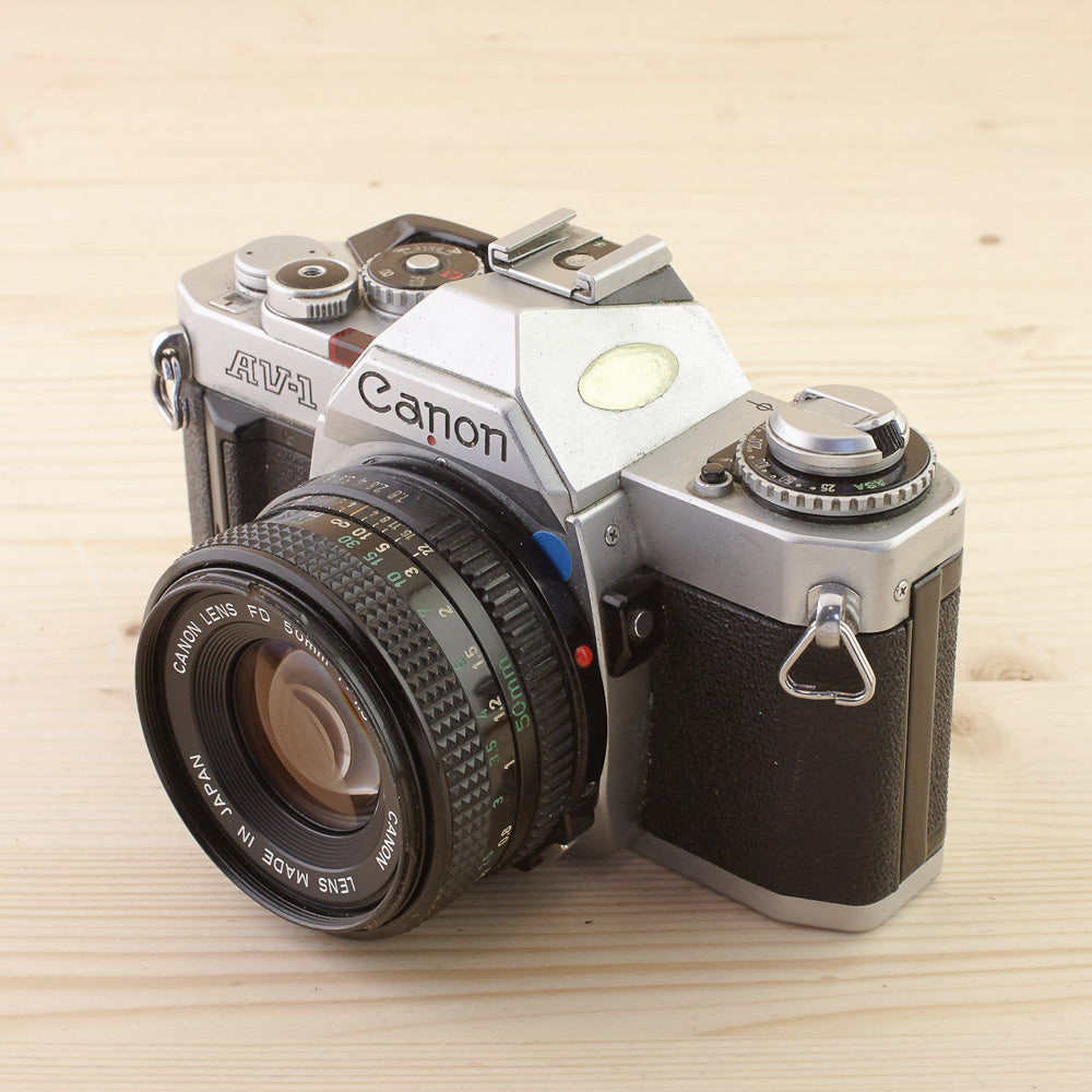 Canon AV-1 w/ 50mm f/1.8 Exc - West Yorkshire Cameras