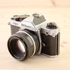 Nikon FM2N Chrome w/ 50mm f/1.8 Exc - West Yorkshire Cameras