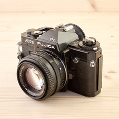 Fujica AX-3 Black w/ 50mm f/1.6 Exc