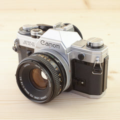 Canon AT-1 w/ 50mm f/1.8 Exc - West Yorkshire Cameras