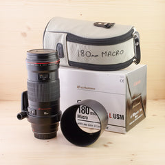 Canon EF 180mm f/3.5 L USM Macro Exc+ Boxed
