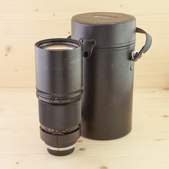 Olympus OM 300mm f/4.5 with case Exc+