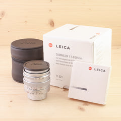 Leica LTM 50mm f/1.4 Summilux 11621 Chrome Mint- Boxed