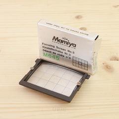 Mamiya 645 Focusing Screen No. 3 Exc+ Boxed