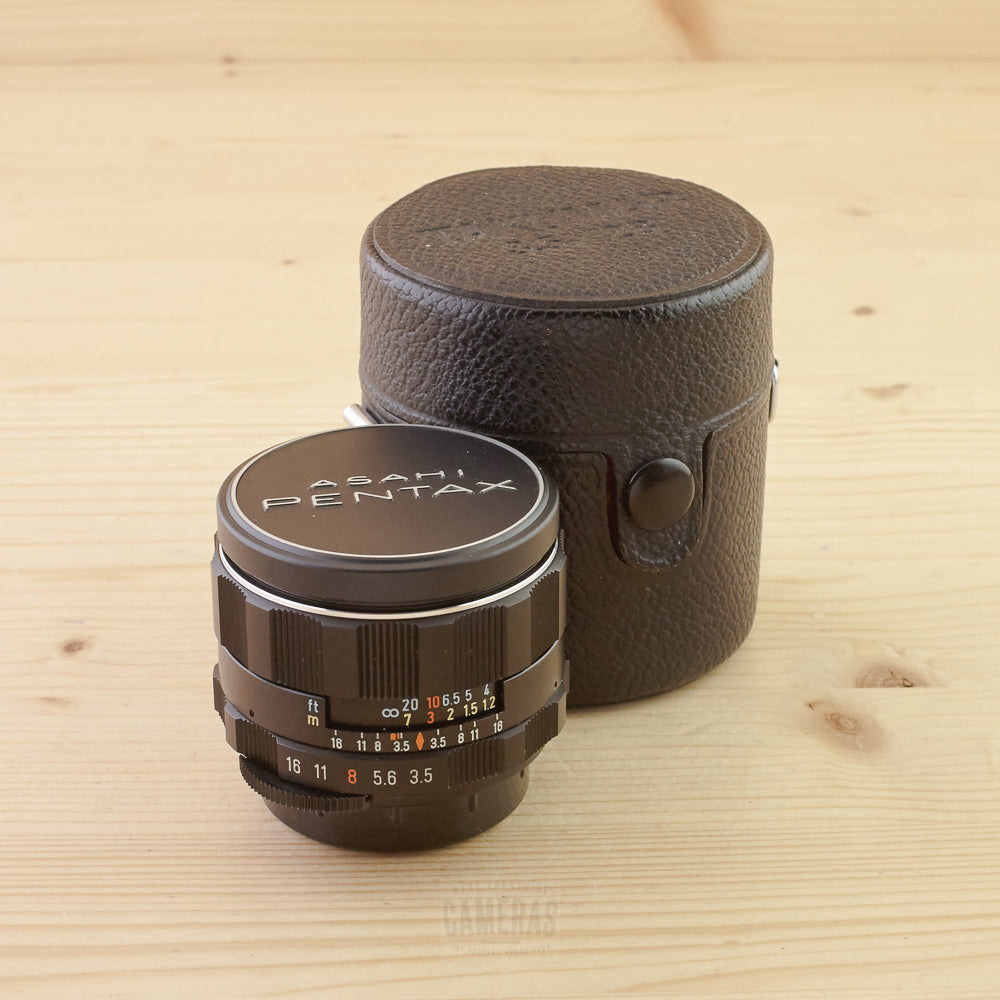 Pentax M42 28mm f/3.5 with Case Exc+