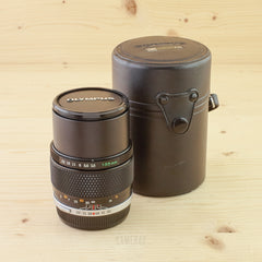 Olympus OM 135mm f/3.5 Exc+ in Case