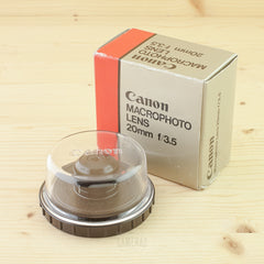 Canon FD 20mm f/3.5 Macro Mint- Boxed