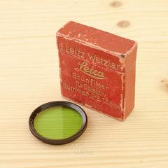 Leica FBXOO Green Filter for Summar 9cm and 13.5cm Exc Boxed