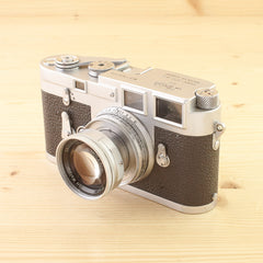 Leica M3 SS w/ 50mm f/2 Collapsible Summicron Avg in Case