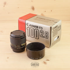 Canon FD 100mm f/2.8 Avg Boxed