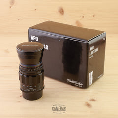 LTM fit Voigtlander 90mm f/3.5 Apo Lanthar MC Black Mint- Boxed