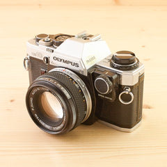 Olympus OM-10 w/ 50mm f/1.8 and Manual Adapter Exc