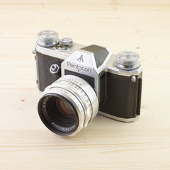 Pentacon F w/ 58mm f/2 Biotar Exc+ Case