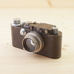 Leica II Black w/ 5cm f/2 Nickel Summar Exc
