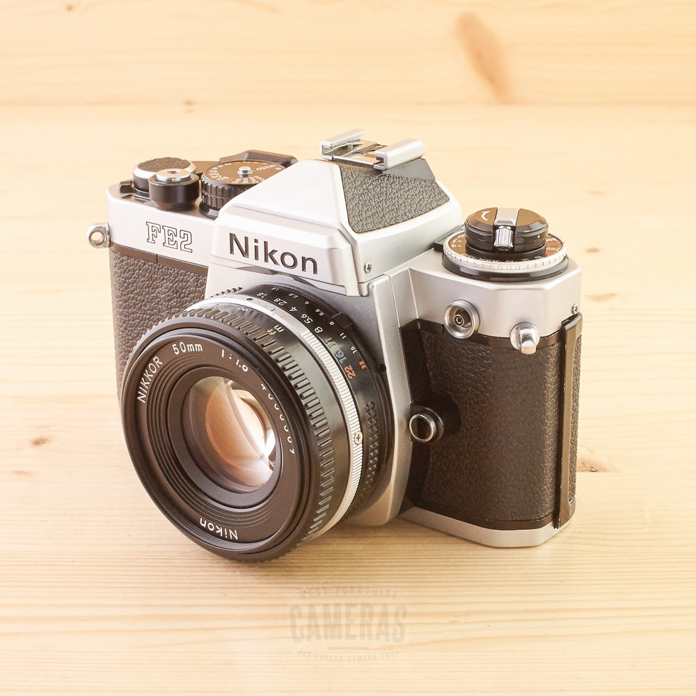 Nikon FE2 Chrome w/ 50mm f/1.8 Exc