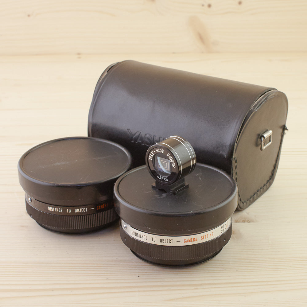 Yashica Aux Wide and Tele Lenses for Electro Cameras Exc