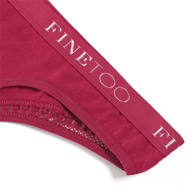 Women's Finetoo Cotton G-String Red