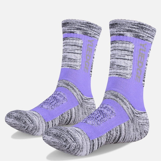 3 Pairs Yuedge Women's Medium Performance Hiking Crew Socks