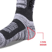 3 Pairs Men's Yuedge Cushion Hiking, Work Crew Socks